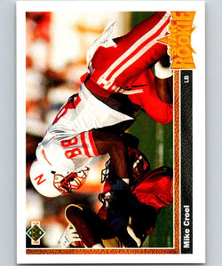 1991 Upper Deck #4 Mike Croel RC Rookie Broncos SR NFL Football