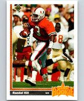1991 Upper Deck #28 Randal Hill RC Rookie Dolphins SR NFL Football
