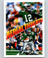 1991 Upper Deck #31 Randall Cunningham/Keith Jackson Eagles AT NFL Football