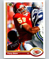 1991 Upper Deck #36 Percy Snow Chiefs NFL Football
