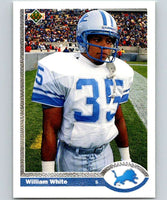 1991 Upper Deck #49 William White Lions NFL Football