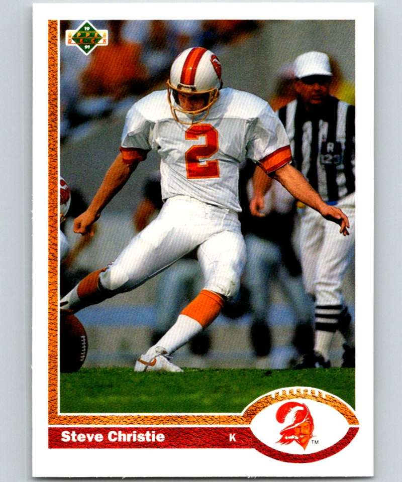 1991 Upper Deck #263 Steve Christie Buccaneers NFL Football