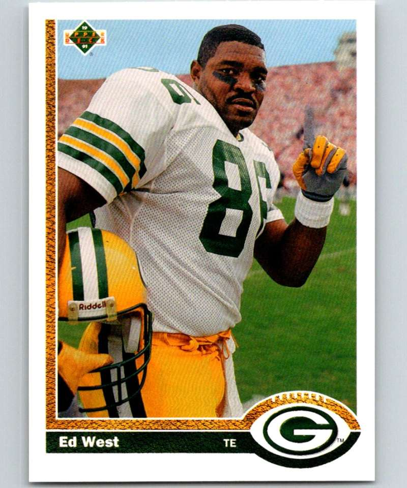 1991 Upper Deck #380 Ed West Packers NFL Football