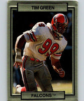 1990 Action Packed #7 Tim Green RC Rookie Falcons NFL Football