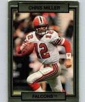 1990 Action Packed #8 Chris Miller Falcons NFL Football