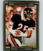 1990 Action Packed #28 Brad Muster Bears NFL Football