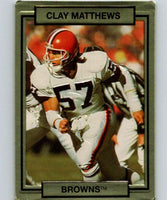 1990 Action Packed #45 Clay Matthews Browns NFL Football