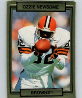 1990 Action Packed #48 Ozzie Newsome Browns NFL Football