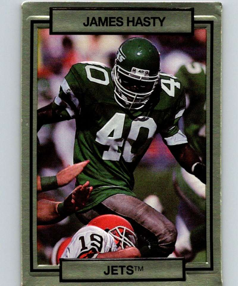 1990 Action Packed #192 James Hasty NY Jets NFL Football
