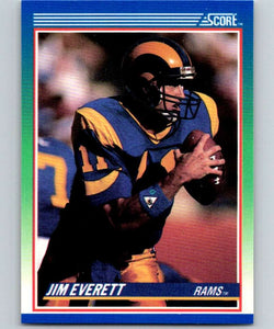 1990 Score #4 Jim Everett LA Rams NFL Football