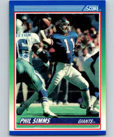 1990 Score #5 Phil Simms NY Giants NFL Football