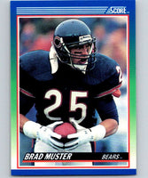 1990 Score #17 Brad Muster Bears NFL Football