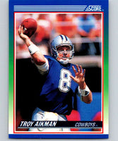 1990 Score #21 Troy Aikman Cowboys NFL Football