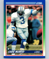 1990 Score #27 Eddie Murray Lions NFL Football