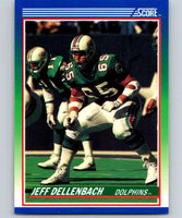 1990 Score #31 Jeff Dellenbach RC Rookie Dolphins NFL Football