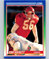 1990 Score #42 Dino Hackett Chiefs NFL Football