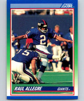 1990 Score #54 Raul Allegre NY Giants NFL Football