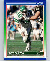 1990 Score #64 Kyle Clifton NY Jets NFL Football