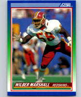 1990 Score #71 Wilber Marshall Redskins NFL Football