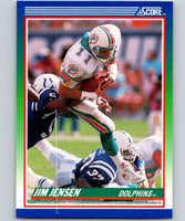 1990 Score #84 Jim Jensen Dolphins NFL Football