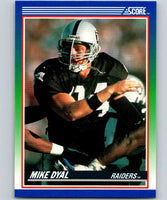 1990 Score #86 Mike Dyal RC Rookie LA Raiders NFL Football