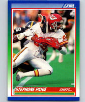 1990 Score #96 Stephone Paige Chiefs NFL Football