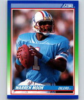 1990 Score #105 Warren Moon Oilers NFL Football