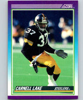 1990 Score #111 Carnell Lake Steelers NFL Football