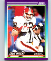 1990 Score #122 Felix Wright Browns NFL Football