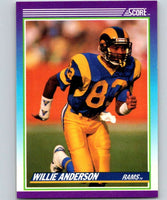 1990 Score #125 Willie Anderson LA Rams NFL Football