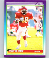 1990 Score #137 Todd McNair RC Rookie Chiefs NFL Football