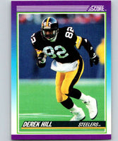 1990 Score #142 Derek Hill RC Rookie Steelers NFL Football