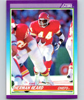 1990 Score #144 Herman Heard Chiefs NFL Football