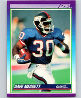 1990 Score #150 Dave Meggett NY Giants NFL Football