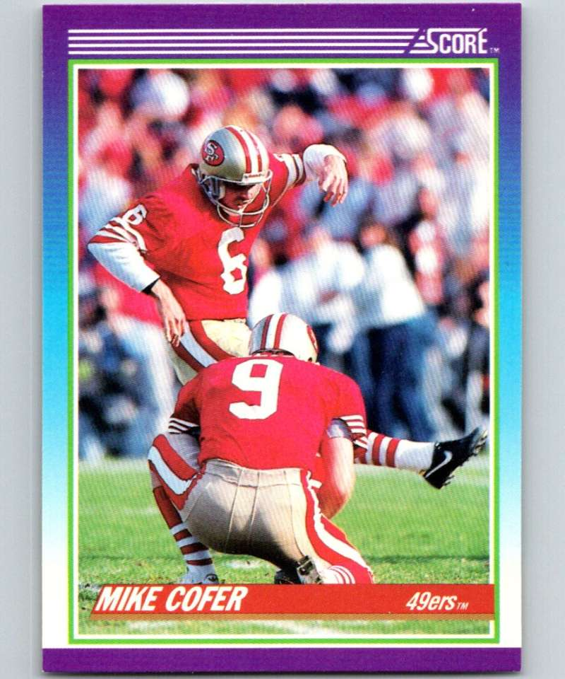 1990 Score #155 Mike Cofer 49ers NFL Football