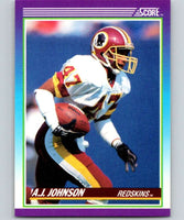 1990 Score #157 A.J. Johnson Redskins NFL Football