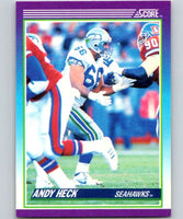 1990 Score #160 Andy Heck Seahawks NFL Football
