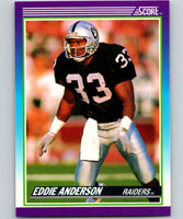 1990 Score #169 Eddie Anderson RC Rookie LA Raiders NFL Football