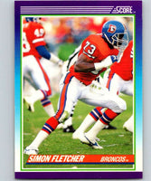 1990 Score #173 Simon Fletcher Broncos NFL Football