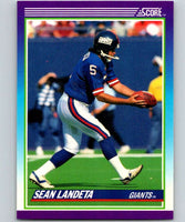 1990 Score #175 Sean Landeta NY Giants NFL Football