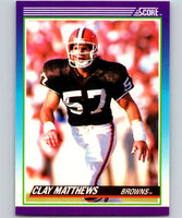 1990 Score #177 Clay Matthews Browns NFL Football