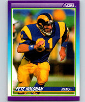 1990 Score #179 Pete Holohan LA Rams NFL Football