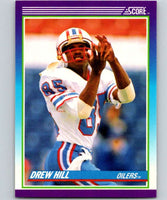 1990 Score #185 Drew Hill Oilers NFL Football