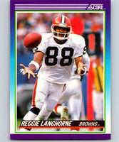 1990 Score #186 Reggie Langhorne Browns NFL Football