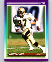 1990 Score #187 Lonzell Hill Saints NFL Football