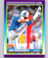 1990 Score #189 Greg Montgomery RC Rookie Oilers NFL Football