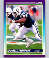 1990 Score #195 Donnell Thompson Colts NFL Football