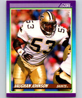 1990 Score #196 Vaughan Johnson Saints NFL Football