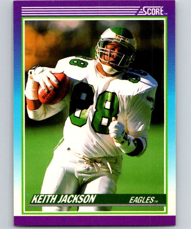 1990 Score #210 Keith Jackson Eagles NFL Football
