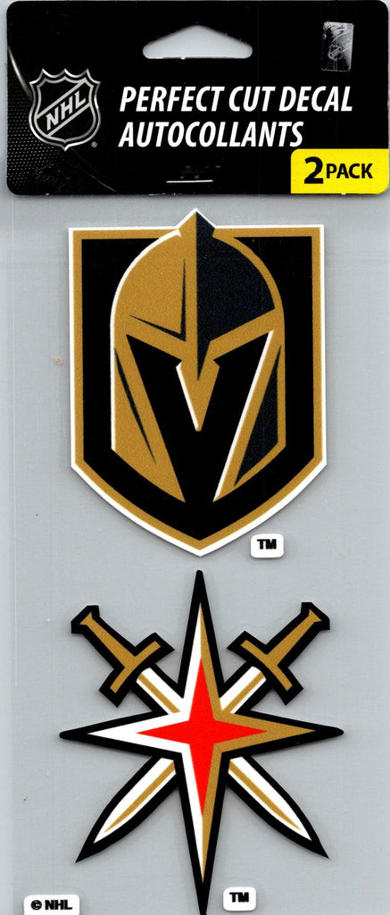 "Vegas Golden Knights Perfect Cut 4""x4"" Decal Sticker Pack of 2"